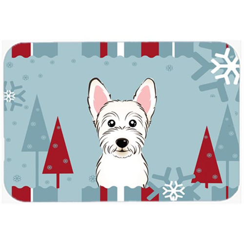 Carolines Treasures BB1722MP Winter Holiday Westie Mouse Pad Hot Pad & Trivet