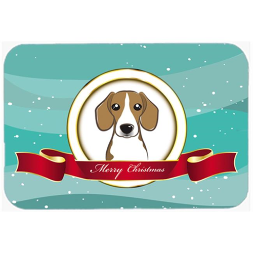 Carolines Treasures BB1549MP Beagle Merry Christmas Mouse Pad Hot Pad & Trivet