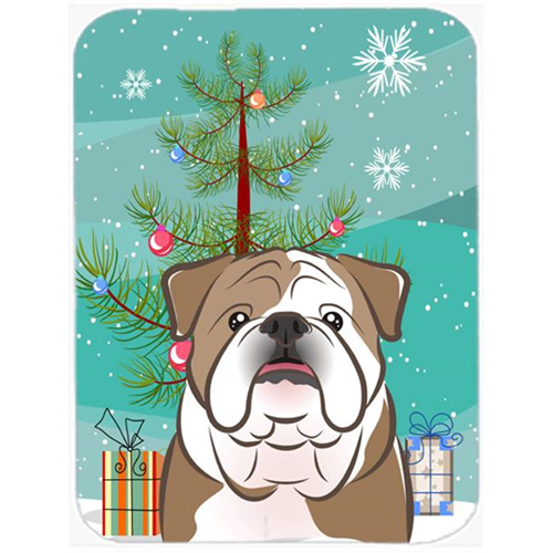 Carolines Treasures BB1591MP Christmas Tree And English Bulldog Mouse Pad Hot Pad & Trivet