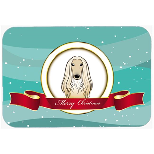 Carolines Treasures BB1554MP Afghan Hound Merry Christmas Mouse Pad Hot Pad & Trivet