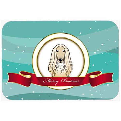 Carolines Treasures BB1554MP Afghan Hound Merry Christmas Mouse Pad Hot Pad & Trivet