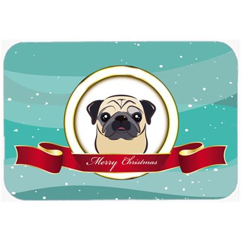 Carolines Treasures BB1572MP Fawn Pug Merry Christmas Mouse Pad Hot Pad & Trivet