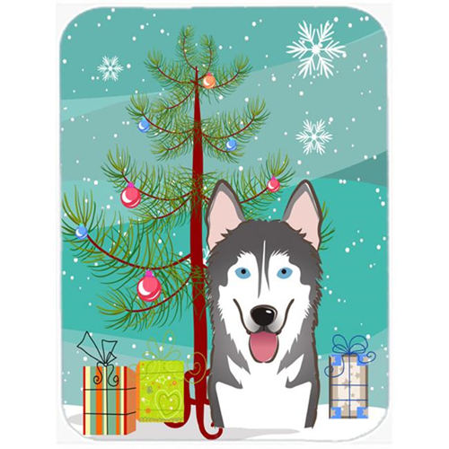 Carolines Treasures BB1590MP Christmas Tree And Alaskan Malamute Mouse Pad Hot Pad & Trivet