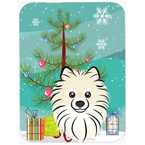 Carolines Treasures BB1579MP Christmas Tree And Pomeranian Mouse Pad Hot Pad & Trivet