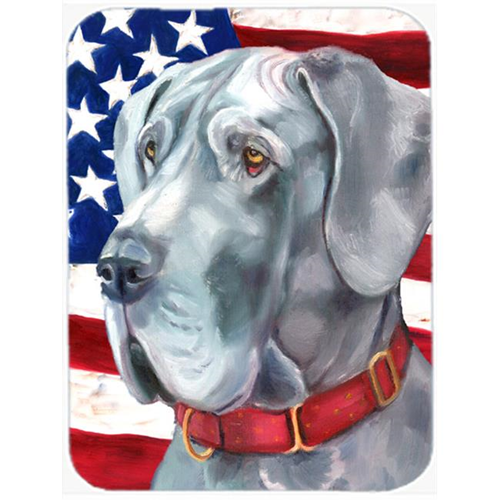 Carolines Treasures LH9542MP Great Dane Usa Patriotic American Flag Mouse Pad Hot Pad & Trivet