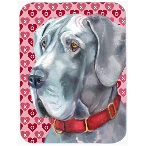 Carolines Treasures LH9563MP Great Dane Hearts Love And Valentines Day Mouse Pad Hot Pad & Trivet