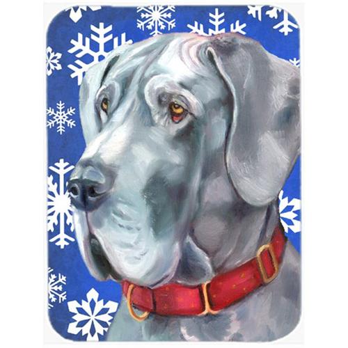 Carolines Treasures LH9584MP Great Dane Winter Snowflakes Holiday Mouse Pad Hot Pad & Trivet