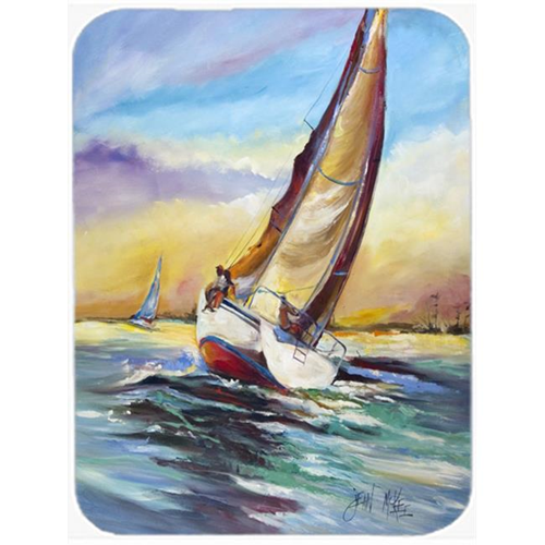 Carolines Treasures JMK1159MP Horn Island Sailboat Race Mouse Pad Hot Pad & Trivet