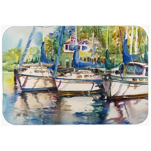 Carolines Treasures JMK1071MP Safe Harbour Sailboats Mouse Pad Hot Pad & Trivet