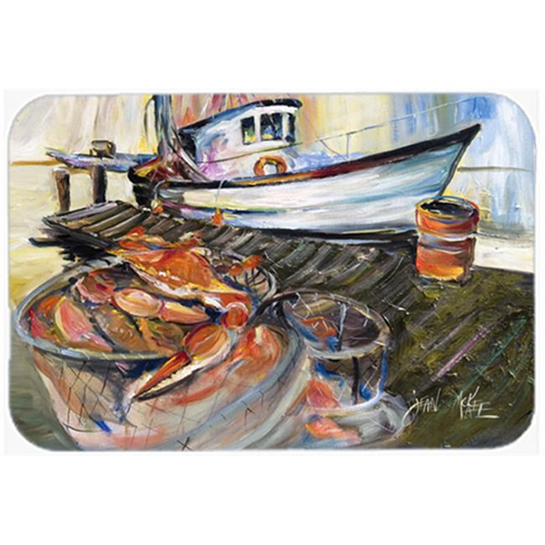 Carolines Treasures JMK1104MP Blue Crab Trap Mouse Pad Hot Pad & Trivet