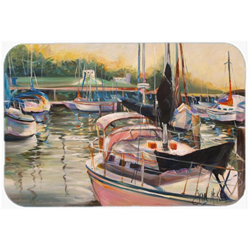 Carolines Treasures JMK1032MP Black Sails Sailboat Mouse Pad Hot Pad & Trivet