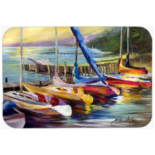 Carolines Treasures JMK1036MP Sailboats At Sunset Mouse Pad Hot Pad & Trivet