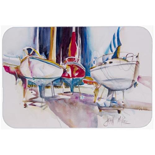 Carolines Treasures JMK1039MP Sailboats In Dry Dock Mouse Pad Hot Pad & Trivet