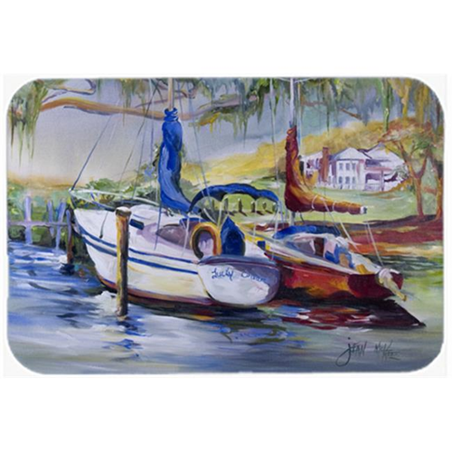 Carolines Treasures JMK1053MP Lucky Dream Sailboat Mouse Pad Hot Pad & Trivet