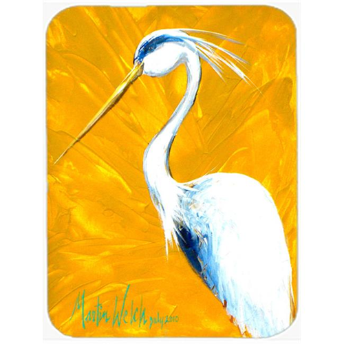 Carolines Treasures MW1193MP Col Mustard The Egret Mouse Pad Hot Pad & Trivet
