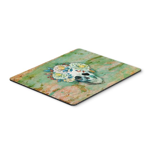 Carolines Treasures BB5124MP Day of the Dead Skull with Flowers Mouse Pad Hot Pad or Trivet