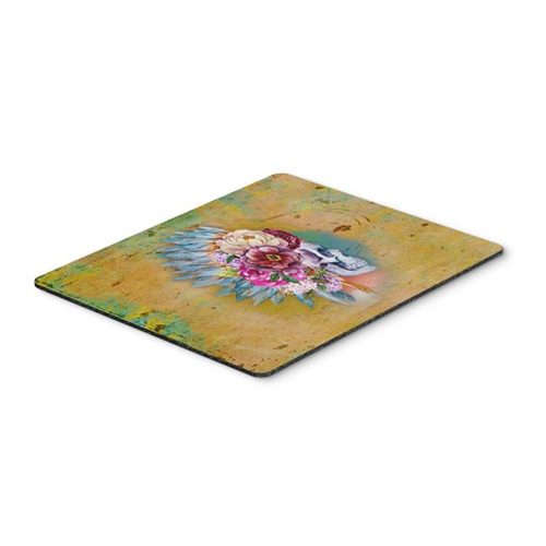 Carolines Treasures BB5129MP Day of the Dead Flowers Skull Mouse Pad Hot Pad or Trivet