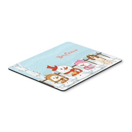 Carolines Treasures BB2362MP Merry Christmas Carolers Russian Spaniel Mouse Pad Hot Pad or Trivet
