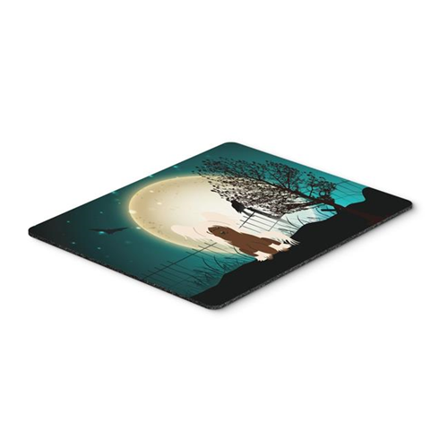 Carolines Treasures BB2303MP Halloween Scary Chinese Crested Cream Mouse Pad Hot Pad or Trivet