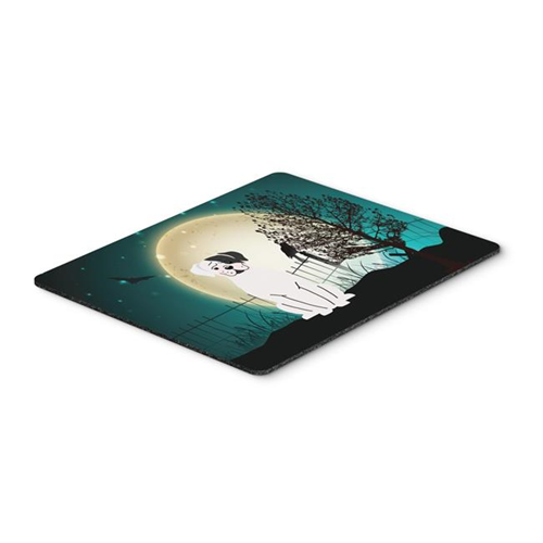 Carolines Treasures BB2304MP Halloween Scary White Boxer Cooper Mouse Pad Hot Pad or Trivet