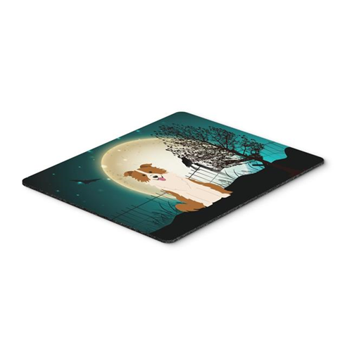 Carolines Treasures BB2309MP Halloween Scary Border Collie Red & White Mouse Pad Hot Pad or Trivet