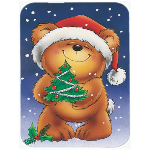 Carolines Treasures AAH7208MP Teddy Bear & Christmas Tree Mouse Pad Hot Pad or Trivet