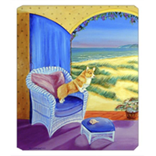 Carolines Treasures 7184MP 8 x 9.5 in. Pembroke Corgi Room with a View Mouse Pad Hot Pad or Trivet