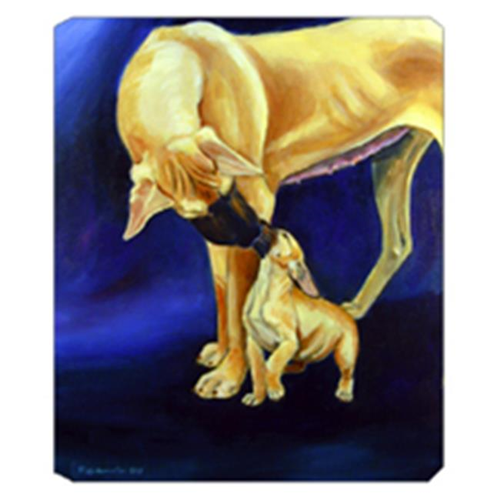 Carolines Treasures 7208MP 8 x 9.5 in. Natural Fawn Great Dane with Puppy Mouse Pad Hot Pad or Trivet