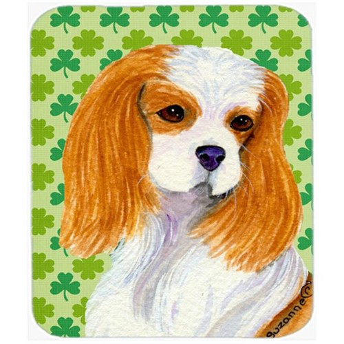 Carolines Treasures SS4458MP Cavalier Spaniel St. Patricks Day Shamrock Mouse Pad Hot Pad Or Trivet