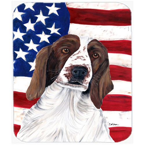 Carolines Treasures SC9024MP Usa American Flag With Welsh Springer Spaniel Mouse Pad Hot Pad Or Trivet