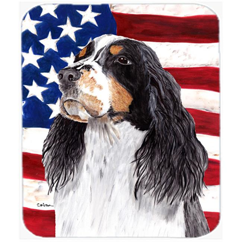 Carolines Treasures SC9016MP Usa American Flag With Springer Spaniel Mouse Pad Hot Pad Or Trivet