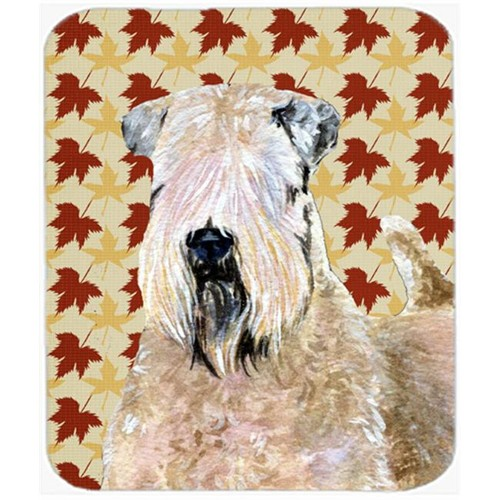 Carolines Treasures SS4363MP Wheaten Terrier Soft Coated Fall Leaves Portrait Mouse Pad Hot Pad Or Trivet
