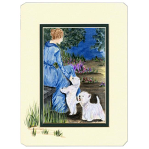 Carolines Treasures SS8021MP Lady With Her Westie Mouse Pad Hot Pad & Trivet
