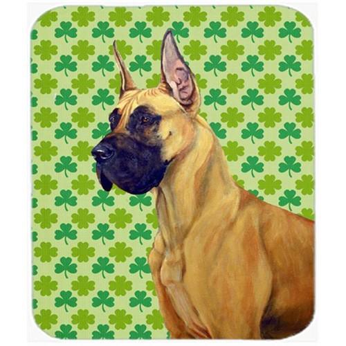 Carolines Treasures LH9175MP Great Dane St. Patricks Day Shamrock Portrait Mouse Pad Hot Pad or Trivet
