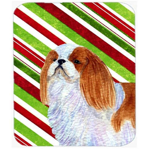 Carolines Treasures SS4576MP English Toy Spaniel Candy Cane Holiday Christmas Mouse Pad Hot Pad or Trivet