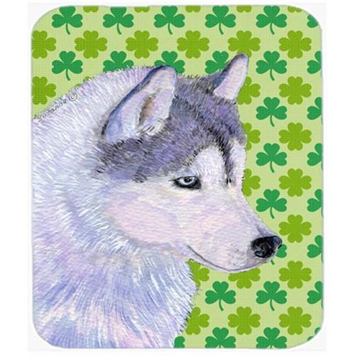 Carolines Treasures SS4395MP Siberian Husky St. Patricks Day Shamrock Portrait Mouse Pad Hot Pad Or Trivet