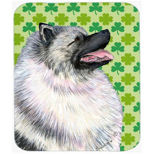 Carolines Treasures SS4419MP Keeshond St. Patricks Day Shamrock Portrait Mouse Pad Hot Pad Or Trivet