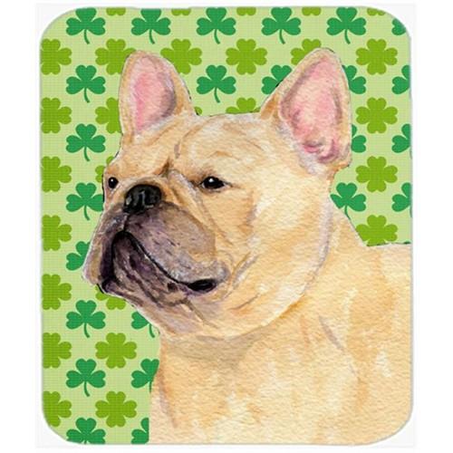 Carolines Treasures SS4416MP French Bulldog St. Patricks Day Shamrock Portrait Mouse Pad Hot Pad Or Trivet