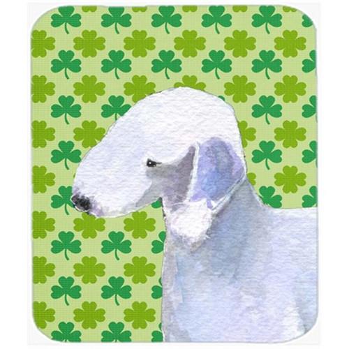Carolines Treasures SS4414MP Bedlington Terrier St. Patricks Day Shamrock Mouse Pad Hot Pad Or Trivet