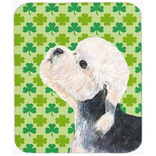 Carolines Treasures SS4434MP Dandie Dinmont Terrier St. Patricks Day Shamrock Mouse Pad Hot Pad Or Trivet