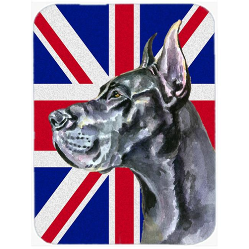 Carolines Treasures LH9599MP Black Great Dane With English Union Jack British Flag Mouse Pad Hot Pad & Trivet