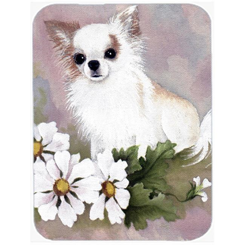 Carolines Treasures MH1019MP Chihuahua White Flowers Mouse Pad Hot Pad & Trivet