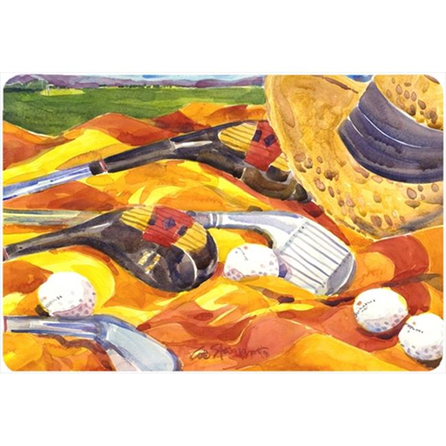 Carolines Treasures 6063MP Golf Clubs Golfer Mouse Pad Hot Pad Or Trivet