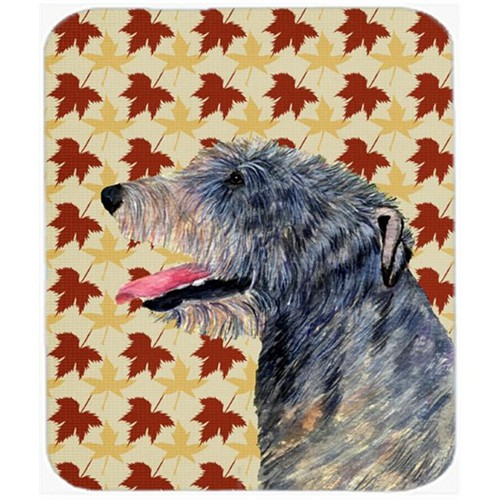 Carolines Treasures SS4350MP Irish Wolfhound Fall Leaves Portrait Mouse Pad Hot Pad Or Trivet