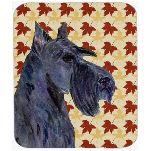 Carolines Treasures SS4327MP Scottish Terrier Fall Leaves Portrait Mouse Pad Hot Pad Or Trivet