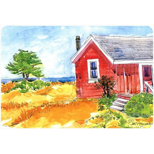 Carolines Treasures 6041MP Old Red Cottage House At The Lake Or Beach Mouse Pad Hot Pad Or Trivet