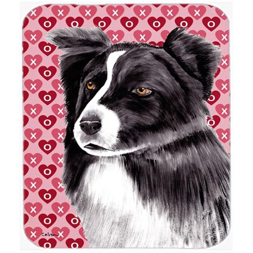 Carolines Treasures SC9272MP Border Collie Hearts Love And Valentines Day Mouse Pad Hot Pad Or Trivet