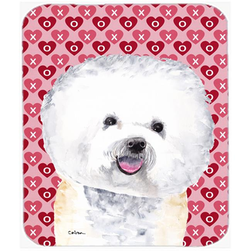 Carolines Treasures SC9278MP Bichon Frise Hearts Love And Valentines Day Mouse Pad Hot Pad Or Trivet