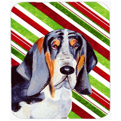 Carolines Treasures LH9237MP Basset Hound Candy Cane Holiday Christmas Mouse Pad Hot Pad Or Trivet