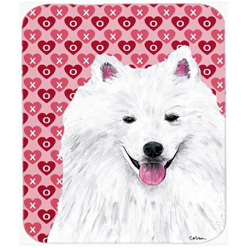Carolines Treasures SC9260MP American Eskimo Hearts Love And Valentines Day Mouse Pad Hot Pad Or Trivet